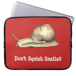 Sleeve Para Laptop O vermelho não squish o design dos caracóis