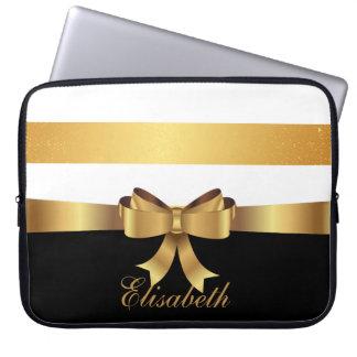 Sleeve Para Laptop Ouro personalizado, ARCO dourado das listras