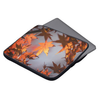 Sleeve Para Laptop País das maravilhas da queda da cor do outono