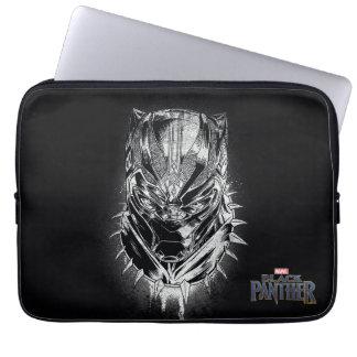 Sleeve Para Laptop Pantera preta esboço principal preto & branco de  