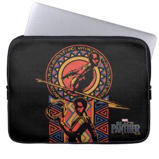 Sleeve Para Laptop Pantera preta   Okoye & painel de Nakia Wakandan