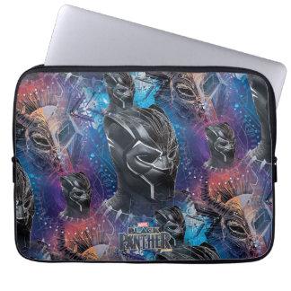 Sleeve Para Laptop Pantera preta preta de pantera   & teste padrão de