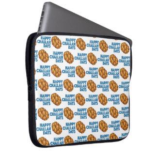 Sleeve Para Laptop Pão judaico feliz de Hanukkah Chanukah dos dias do