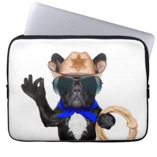 Sleeve Para Laptop pug do vaqueiro - vaqueiro do cão