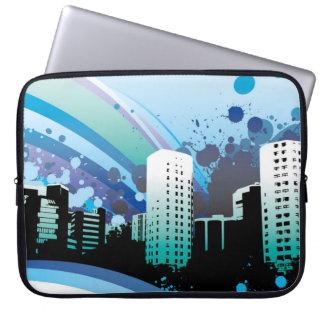Sleeve Para Laptop rainbow_building_paint