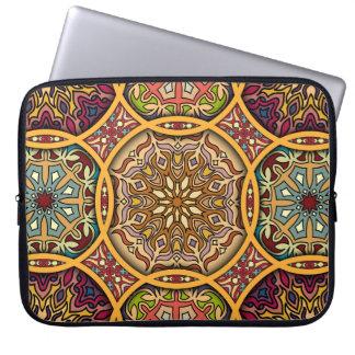 Sleeve Para Laptop Retalhos do vintage com elementos florais da