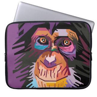 Sleeve Para Laptop Retrato colorido do macaco do pop art