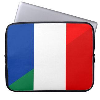 Sleeve Para Laptop símbolo do país da bandeira de Italia france meio