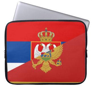 Sleeve Para Laptop símbolo do país da bandeira de serbia Montenegro