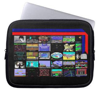 """Sleeve Para Laptop Tela 10"""" do jogo do comodoro 64 caixa do laptop"""