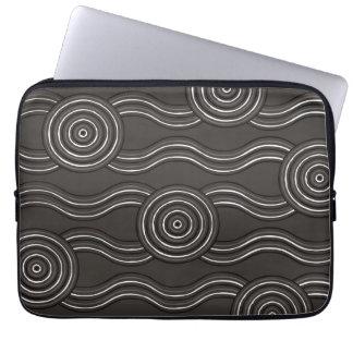 Sleeve Para Laptop Tempestade aborígene da arte