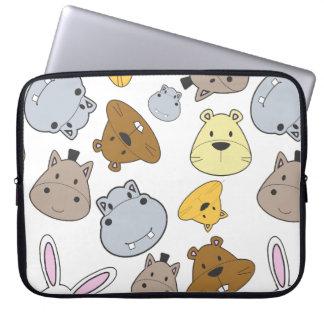 Sleeve Para Laptop Teste padrão bonito do retrato dos animais dos