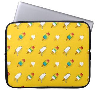 Sleeve Para Laptop Teste padrão brilhante legal do arco-íris do pop