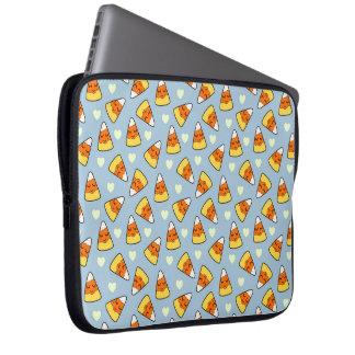 Sleeve Para Laptop Teste padrão do milho e do coração de doces
