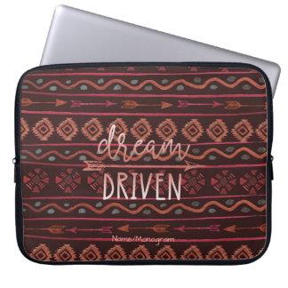 Sleeve Para Laptop Teste padrão tribal conduzido sonho de Boho,