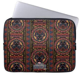 Sleeve Para Laptop Teste padrão tribal da cabeça da pantera da