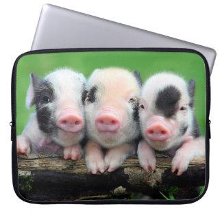 Sleeve Para Laptop Três porcos pequenos - porco bonito - três porcos