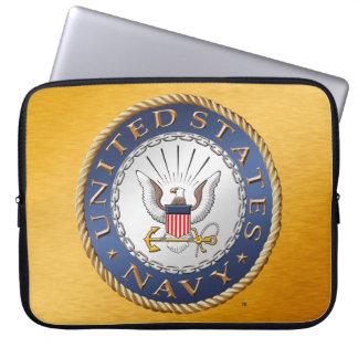 Sleeve Para Laptop U.S. Saco dos eletrônicos do marinho