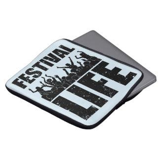 Sleeve Para Laptop VIDA nova do FESTIVAL (preto)