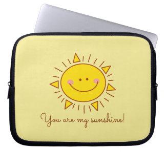 Sleeve Para Laptop Você é meu dia ensolarado do smiley bonito feliz
