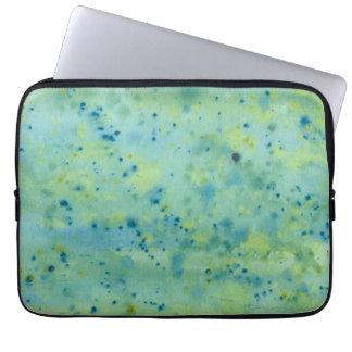 Sleeve Para Laptop Watercolour azul & verde Splat
