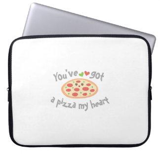 Sleeve Para Laptop You've obteve a uma pizza meu coração chalaça