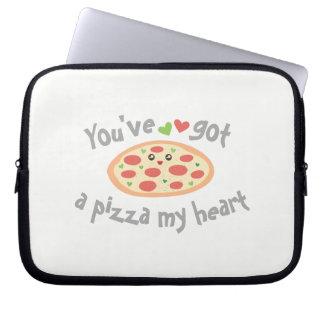 Sleeve Para Laptop You've obteve a uma pizza meu coração humor
