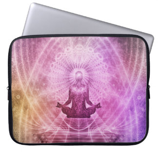 Sleeve Para Laptop Zen espiritual da meditação da ioga colorido