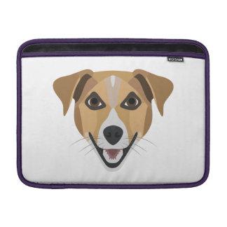 Sleeve Para MacBook Air Cão Terrier de sorriso da ilustração