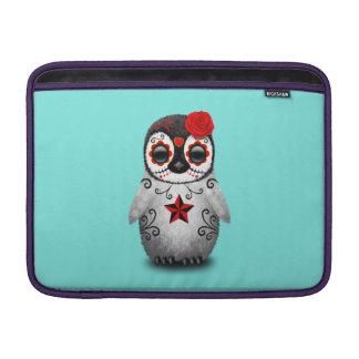 Sleeve Para MacBook Air Dia vermelho do pinguim inoperante do bebê