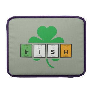 Sleeve Para MacBook Air Elemento químico Zz37b do cloverleaf irlandês