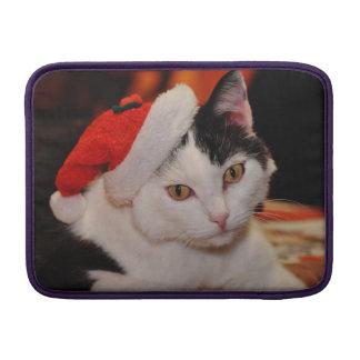 Sleeve Para MacBook Air Gato de Papai Noel - Feliz Natal - gato do animal