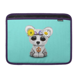 Sleeve Para MacBook Air Hippie bonito de Cub de urso polar do bebê