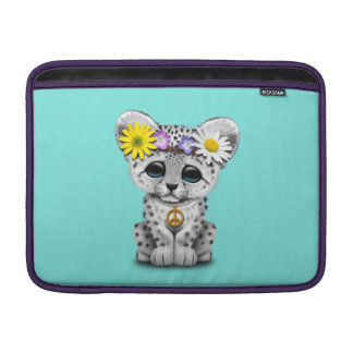 Sleeve Para MacBook Air Leopardo de neve bonito Cub do Hippie