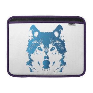 Sleeve Para MacBook Air Lobo do azul de gelo da ilustração