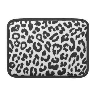 Sleeve Para MacBook Air Padrões pretos & brancos da pele animal do