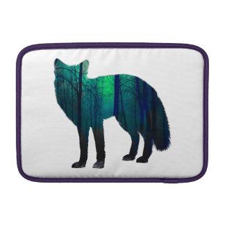 Sleeve Para MacBook Air Silhueta do Fox - raposa da floresta - arte da