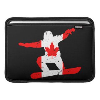 Sleeve Para MacBook Air SNOWBOARDER da folha de bordo (preto)