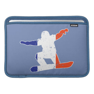 Sleeve Para MacBook Air SNOWBOARDER Tricolor francês (branco)