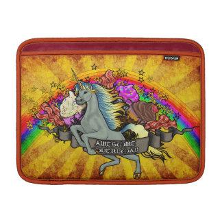 Sleeve Para MacBook Air Unicórnio, arco-íris & bacon impressionantes da