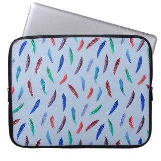 "Sleeve Para Notebook A aguarela empluma-se a bolsa de laptop 15"""