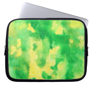 "Sleeve Para Notebook A bolsa de laptop 10"" do verde amarelo"