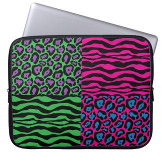 Sleeve Para Notebook A bolsa de laptop animal chique do impressão de