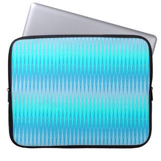 Sleeve Para Notebook A bolsa de laptop azul de néon de Chevron