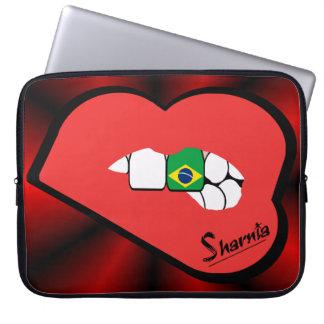 Sleeve Para Notebook A bolsa de laptop de Brasil dos lábios de Sharnia