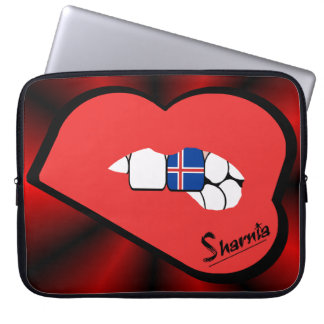 Sleeve Para Notebook A bolsa de laptop de Islândia dos lábios de