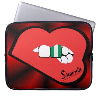 Sleeve Para Notebook A bolsa de laptop de Nigéria dos lábios de Sharnia
