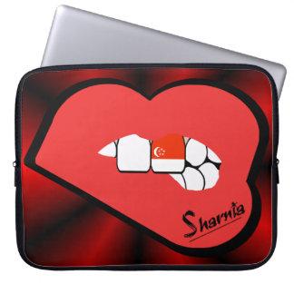 Sleeve Para Notebook A bolsa de laptop de Singapore dos lábios de