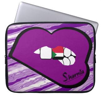 Sleeve Para Notebook A bolsa de laptop de Sudão dos lábios de Sharnia