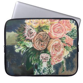 Sleeve Para Notebook A bolsa de laptop do computador do buquê floral
